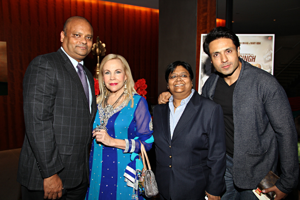 From left: Anupam Ray (Consul General of India), Carolyn Farb, Sutapa Ghosh (Founder and Festival Director), and Iqbal Khan.