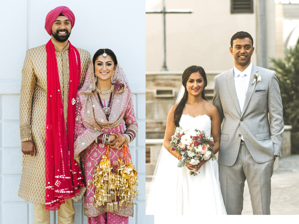 Namrita Singh and Mathew Mathew were married in Houston on October 28 at the Gurdwara Sahib of Southwest Houston and a day later at the Holy Rosary Church.