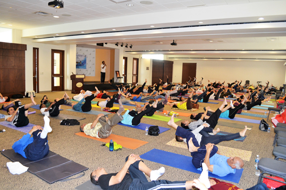 Yoga session during world Diabetes Day