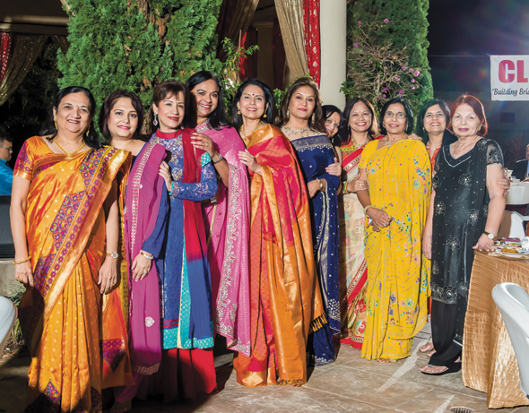 Diwali, the festival of lights, provided the ideal setting for Club 24 wives to present their fashion fineries. Photo credit: Murali Santhana.