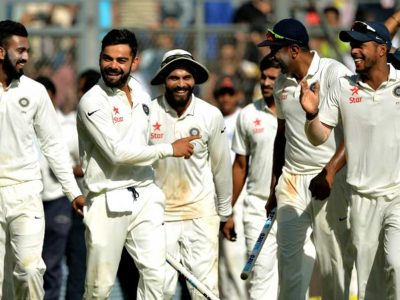 Ravindra Jadeja bagged seven wickets and also completed a sensational catch during England's 2nd innings.
