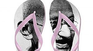 Amazon was selling flip-flops with Mahatma Gandhi's image. (Photo via Amazon.com)