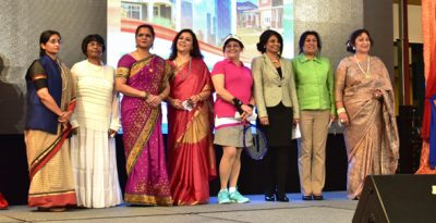 A segment which honored Women Who Made India Proud, portrayed onstage by volunteers and Board members of the ICC