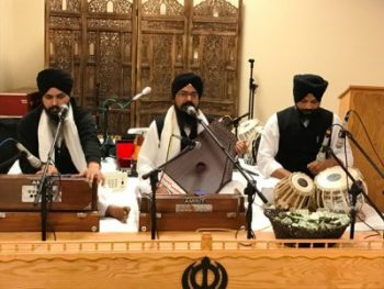 Bhai Nitender Singh and his jatha performed keertan