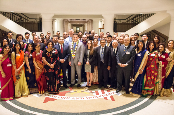 Hosted by BAPS, at the historic Texas State Capitol on February 1, prominent Indian Americans from across Texas gathered to celebrate Indian American Culture with sponsor State Representative Matt Rinaldi (District 115).