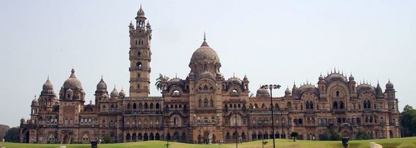 Laxmi Vilas Palace is cultural hallmark of Gujarat. Built by Sayajirao Gaekwad III, the palace was completed 1890. The royal family still lives in a portion of the palace.