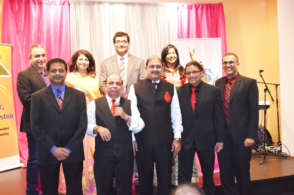 At the IHA/ICC Shaam-e-Ghazal on February 10, the performers in the back row (from left) Imtiaz Munshi, Nausha Asrar and Archna Panda with the organizing Board members Sangeeta Pasrija (second from left, back row), (front row, from left) Sanjay Sohoni, Dr K.D. Upadhyaya, Rajiv Bhavsar, Charlie Patel and Swapan Dhaiyrawan.
