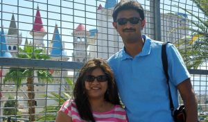 Aviations engineer Srinivas Kuchibhotla (right) with his wife Sunayana Dumala. The Indian techie died after being shot at in an apparent race attack at a Kansas bar. (AP file)