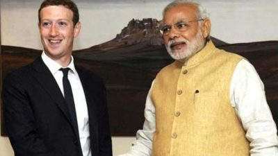 "File photo of Mark Zuckerberg (L), founder and CEO of Facebook, with Prime Minister Narendra Modi. The Indian PM on Feb 21, 2017, urged the US to have a ""balanced and farsighted perspective"" on the movement of skilled professionals.(Reuters File )"
