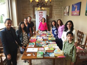 The IACF donated over 200 books to Literacy Advance on Sunday, February 26