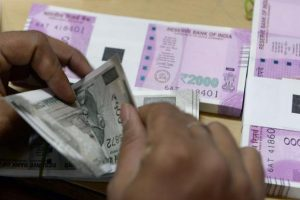 Following the government's demonetisation move that invalidated Rs500 and Rs1000 notes, new Rs500 notes and Rs2000 notes were introduced as part of the remonetisation exercise. Photo: AFP