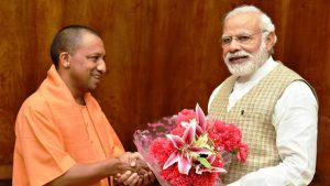 Uttar Pradesh chief minister Yogi Adityanath, who met Prime Minister Narendra Modi in New Delhi on Tuesday, has warned officials that no laxity will be tolerated in arrangements for Navratri.(PIB Photo)