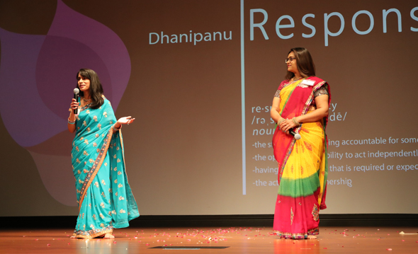 Dr. Parin Patel and Khyati Patel, spoke on the importance of responsibility and ownership in different aspects of life.