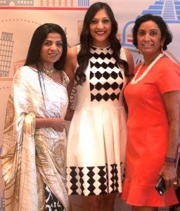 Gala Co-chairs: from left: Farida Abjani, Sippi Khurana, and Annu Naik.