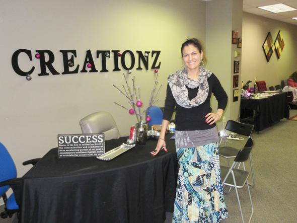 Jasmeeta Singh, founder of Jaz Creationz in her studio on Richmond Ave at S. Gessner.