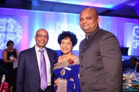 Consul General of India, Dr. Anupam Ray (right) with Founder, Pratham USA Vijay Goradia and Dr. Marie Goradia.