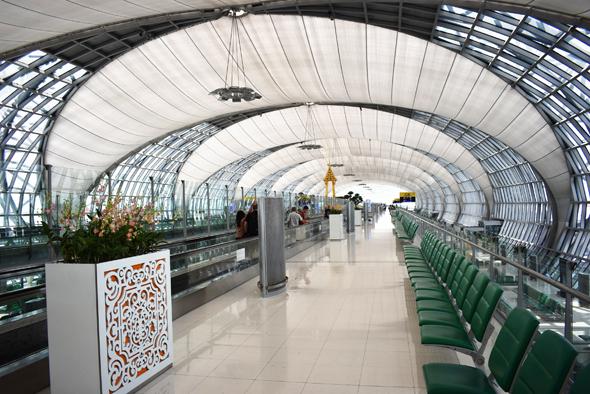 Bangkok's Suvarnabhumi Airport departure gate