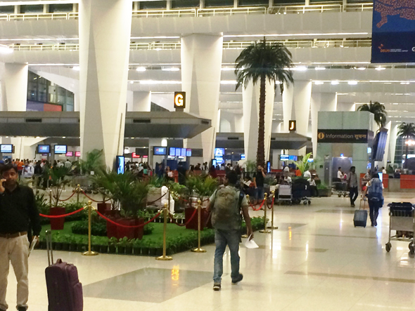 New Delhi's Indira Gandhi Airport Terminal