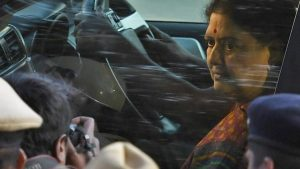 AIADMK general secretary VK Sasikala arrives at the special court in Bengaluru to surrender after she being convicted in a disproportionate assets case on February 15, 2017.(PTI)