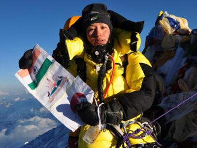 Anshu Jamsenpa has become the world's first woman to scale Mt Everest twice in five days. (PTI Photo)