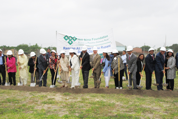 The Rupani family was joined by the special guests at the groundbreaking ceremony.