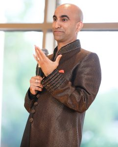 Standup comedian Rajiv Satyal from Los Angeles had the audience in titters all evening long
