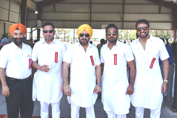 From left: Gurmeet Saini, Aman Sidhu, Bhupinder Singh, Gullu Dhindsa and Hitpal Singh
