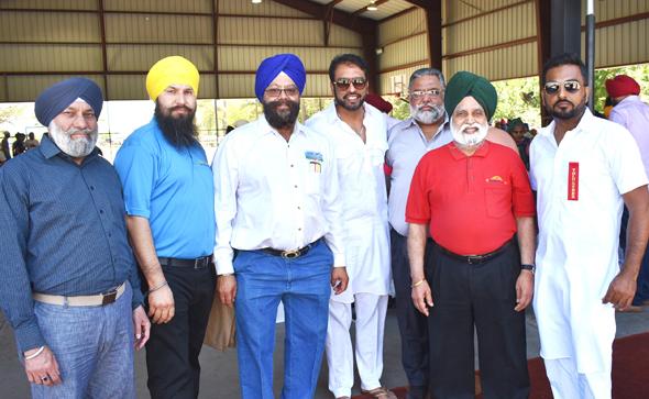 From left: Surjit Singh, Gursharan Singh, Harjit S Galhotra, Hitpal Singh, Gurnam S Sandhar, Dr. Hardam Singh Azad and Gullu Dhindsa.