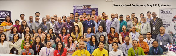 """""""Energized and inspired, Sewa volunteers, leaders gathered in Houston for the 11th Nation Annual Conference"""""""