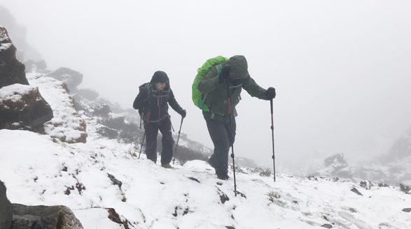 Navraj Pradhan ( left) and Rick Pal. Dangerous trek in icy conditions to crossZatrawa High Pass.