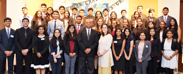 YLDP graduating class of 2017 with Consul General of India, Dr. Anupam Ray and his wife Dr. Amit Goldberg Ray.