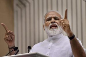 Soon after taking over as the Prime Minister in 2014, Modi had made a unilateral proposal of India launching the satellite whose data would be shared with the eight SAARC countries for their development. Photo: PTI