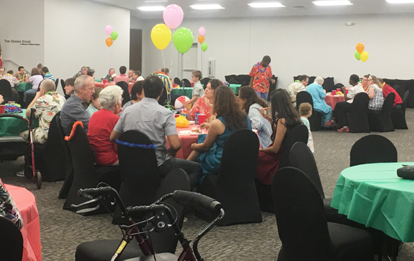 Residents and friends of the Hope Village assisted living facility in Friendswood came out for the annual dance organized by the Friends Helping Friends.