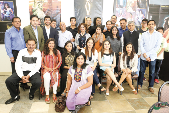 Houston Media and other attendees with Rajender Singh of Star Promotions. Photos: Meedu fotografy