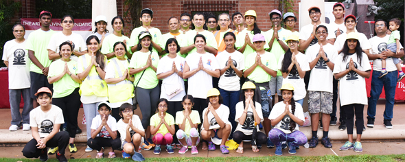 Some of the volunteers from the Hindu Temple of The Woodlands who helped to put the event together