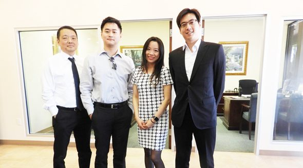 From left: Senior Vice President Lending Officer Jack Kuo, Lending officer Jason Lim, Senior Vice President and Lending Officer Sally Li and Lending Assistant David Wu.