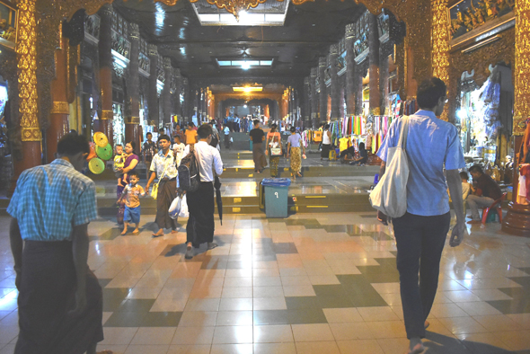 The South Entrance hall to the Shwedagon Pagoda complex