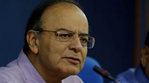 Union minister Arun jaitley at the press conference after Cabinet meeting in new Delhi on Wednesday express photo by prem Nath Pandey 24 may 17