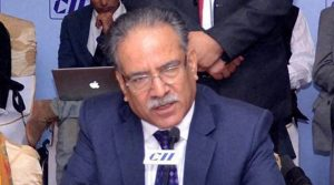Outgoing Prime Minister Pushpa Kamal Dahal of the CPN (Maoist Centre) proposed Deuba's candidacy. (Source: PTI Photo)