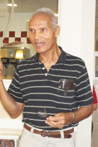 Dr. Lohit Datta-Barua speaks to his supporters at a breakfast meeting last Saturday, July 22 in Kingwood.