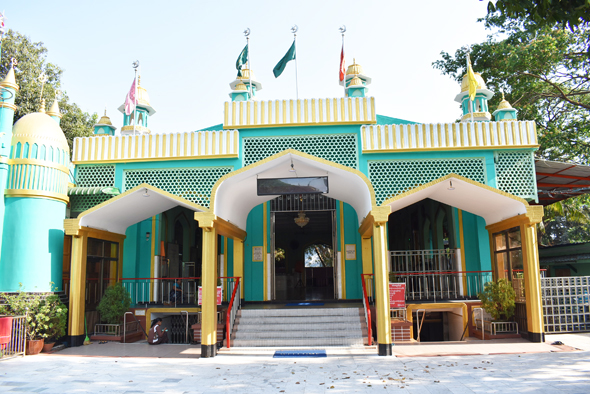 The entrance to the mausoleum