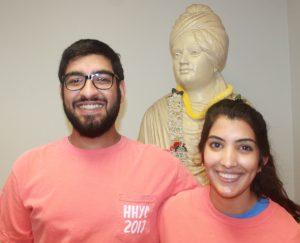 Camp directors, Akash Dhingra (left) and Namita Pallod.