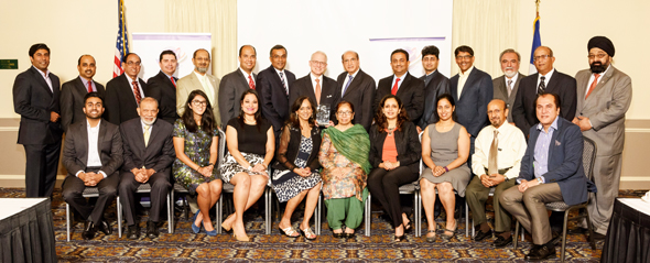 The participants at the IACCGH Power Breakfast on Tuesday, July 25, with the featured speaker, Chase Untermeyer, the former US Ambassador to Qatar. Photos: Bijay Dixit