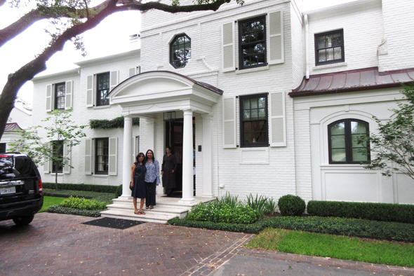 The Matins have renovated their River Oaks house and added on a whole wing in the back.