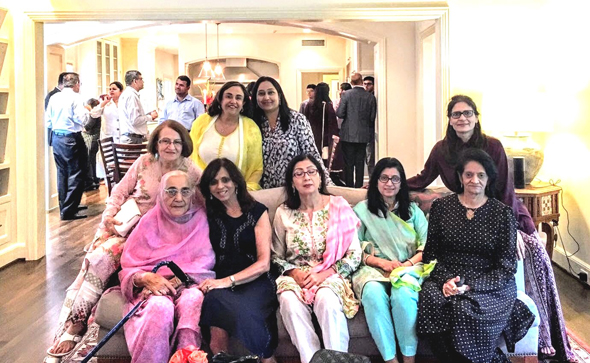 """Some of the ladies who attended the high tea. Seated at left is IAN recipe author Shakuntla Malhotra (fondly known as """"mama"""") and to her left is Paru McGuire, President of Club 65."""