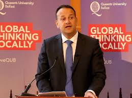 File photo of Irish PM Leo Varadkar, who is one of the five Indian-origin persons to make it to the Fortune's annual list of 40 young and influential people. (AFP photo)