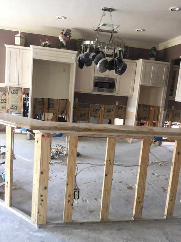 One victim's damaged living room