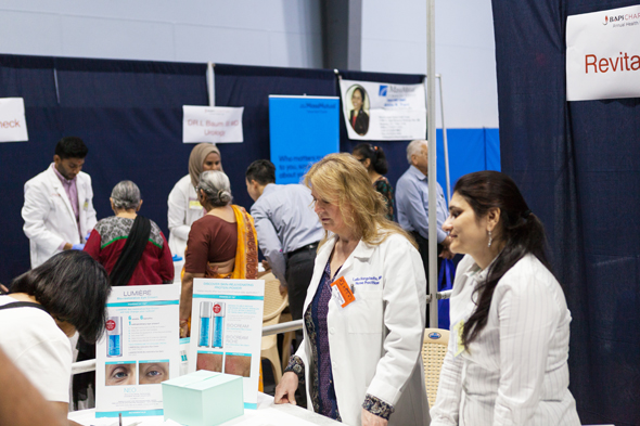 Educational booths were open to all the participants.