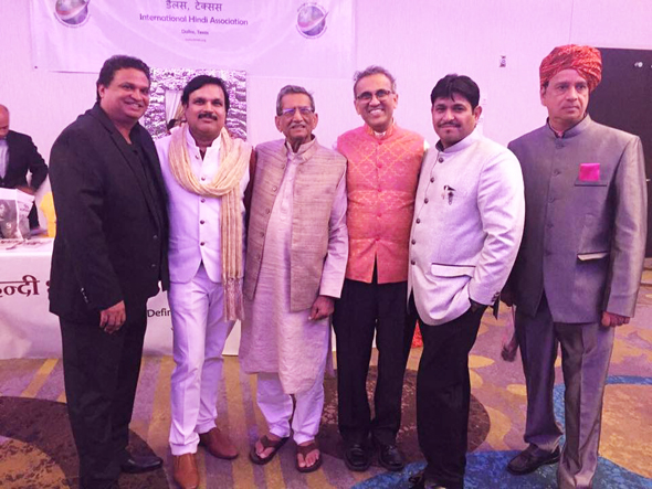 Some of the poets who presented at the Convention with IHA National President Swapan Dhairyawan (third from left).