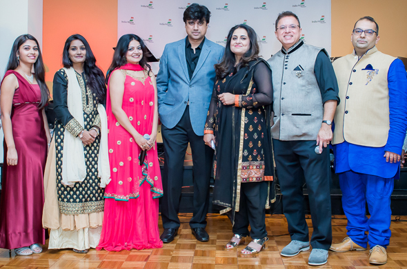 The musical evening organized byMousumi Banerjee (center in black) was held at India House on Saturday, September 16. Hemang Thakkar led the musical team and the other talented performers includedDeep Bhattacharya, Varun Tandon, Nupur Basu, Padma Iyengar and Lakshmi Peter.